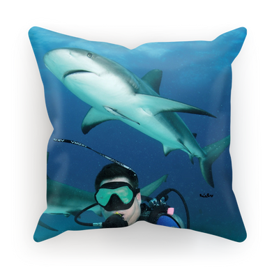 Sublimation Cushion/Throw Pillow Cover - Swimming With Sharks Collection