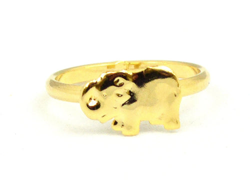 Elephant Toe Ring Gold Overlay
