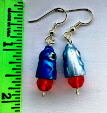 Load image into Gallery viewer, Blue Hammerhead Shark Earrings