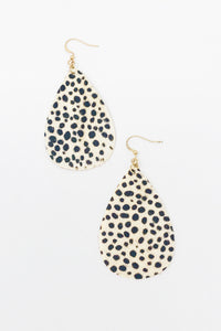"""Spotted In The Wild"" Animal Print Leather Earrings - 2 colors"