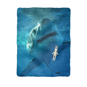 Sublimation Baby Blanket - Surrounded by Sharks Collection