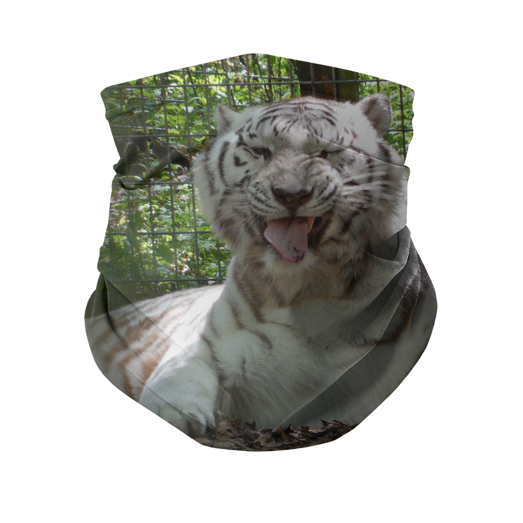 Neck Gaiter with Carbon Filter - Wally the White Tiger