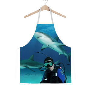 Classic Sublimation Adult Apron - Swimming With Sharks Collection