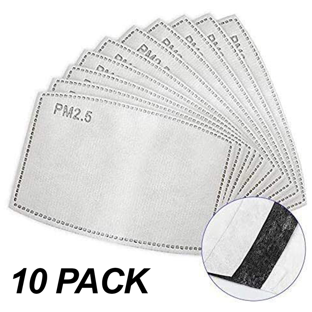 Mask Activated Carbon Filter 10-Pack