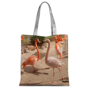 Classic Sublimation Tote Bag - Flamingo Friends Collection