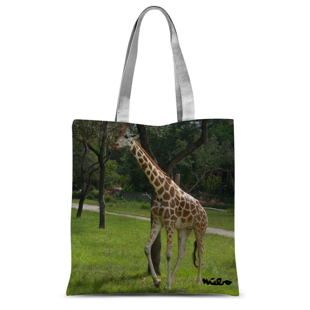 Classic Sublimation Tote Bag - Jeffrey the Giraffe Collection