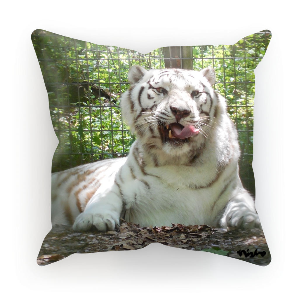 Sublimation Cushion/Throw Pillow Cover - Wally the White Tiger Collection