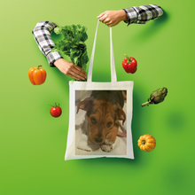 "Load image into Gallery viewer, Shopper Tote Bag - Rescue Pets Collection - ""Lucy"" VI (Many Colors Available)"