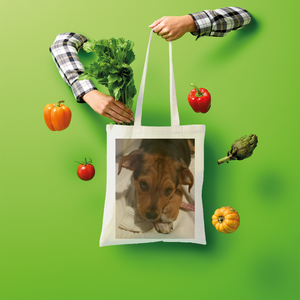 "Shopper Tote Bag - Rescue Pets Collection - ""Lucy"" VI (Many Colors Available)"