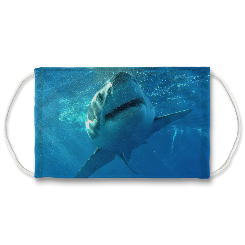 Face Mask Adjustable with Carbon Filter - Great White Shark *Top Seller*
