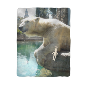 Sublimation Baby Blanket - Arctic Polar Bear Collection