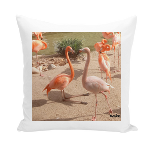 Throw Pillow/Cushion Cover - Flamingo Friends Collection
