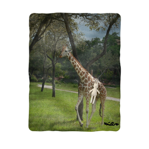 Sublimation Baby Blanket - Jeffrey the Giraffe Collection