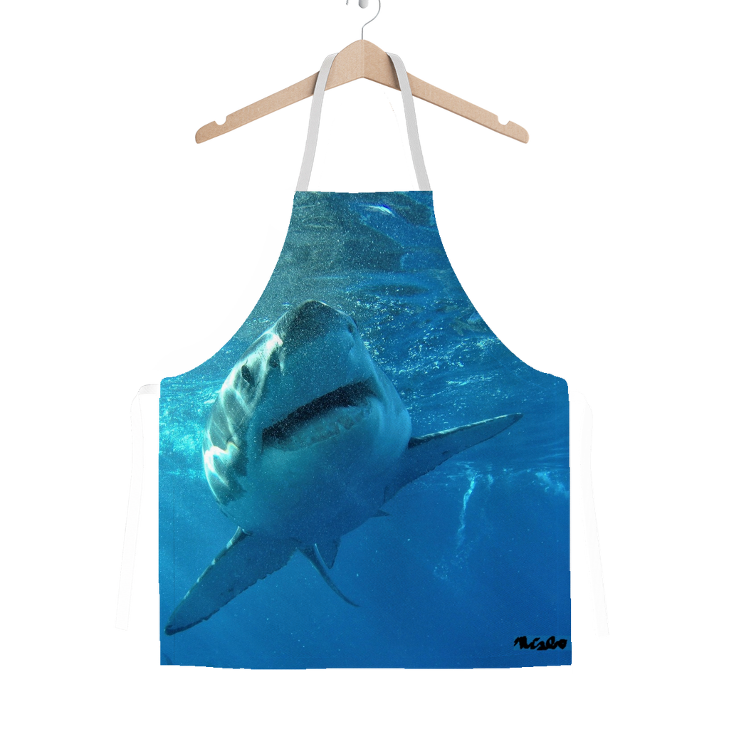 Classic Sublimation Adult Apron - Surrounded by Sharks Collection