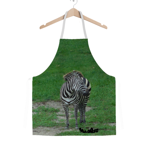 Classic Sublimation Adult Apron - Zoey the Zebra Collection