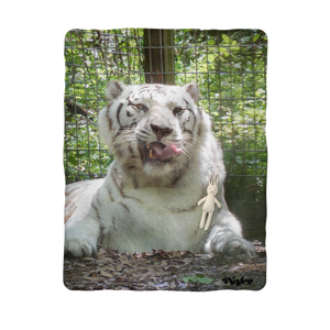 Sublimation Baby Blanket - Wally the White Tiger Collection
