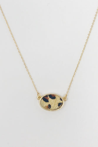 Animal Print Oval Necklace