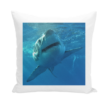 Load image into Gallery viewer, Throw Pillow/Cushion Cover - Surrounded by Sharks Collection