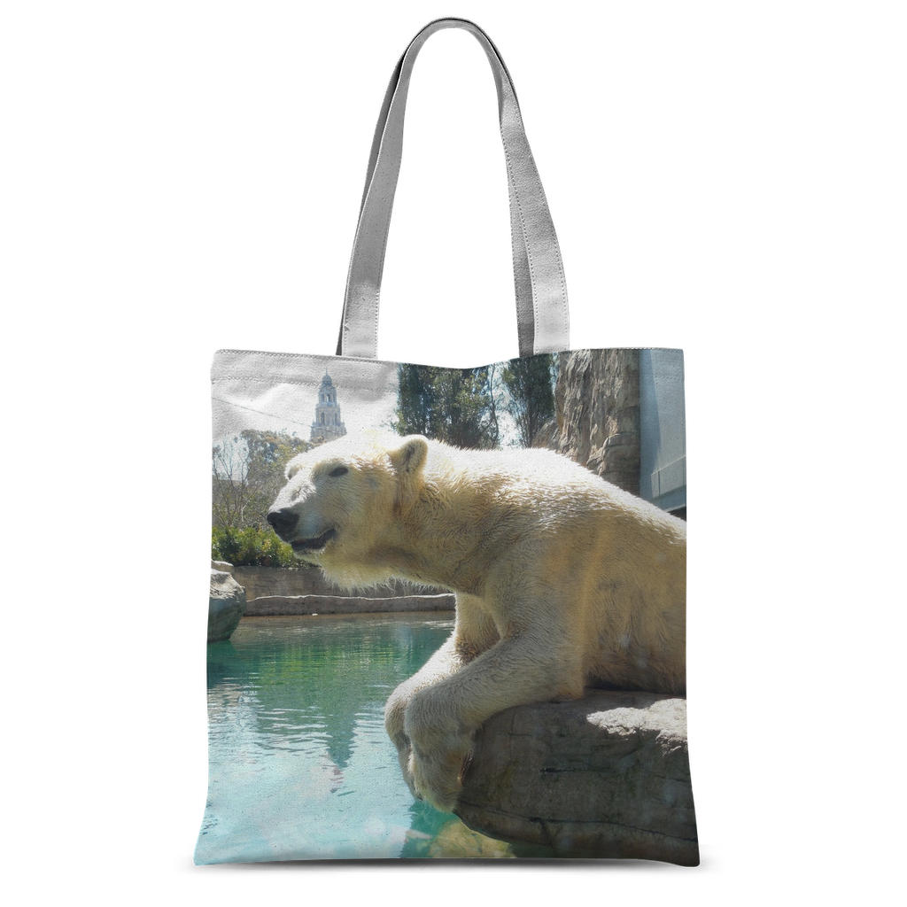 Classic Sublimation Tote Bag - Arctic Polar Bear Collection