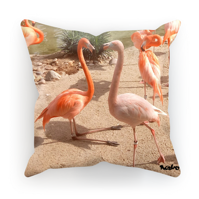 Sublimation Cushion/Throw Pillow Cover - Flamingo Friends Collection
