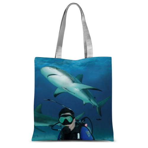 Classic Sublimation Tote Bag - Swimming With Sharks Collection