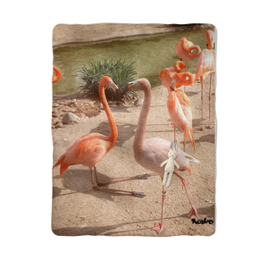 Sublimation Baby Blanket - Flamingo Friends Collection