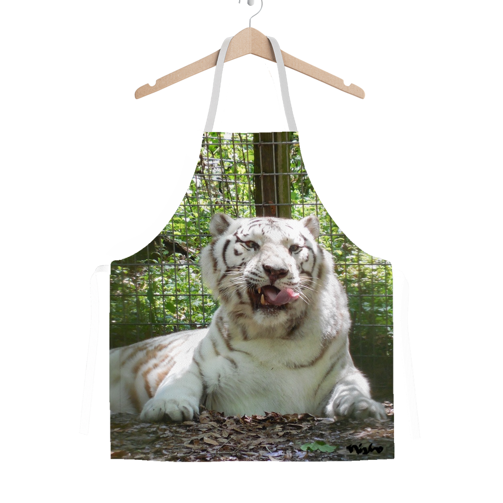 Classic Sublimation Adult Apron - Wally the White Tiger Collection