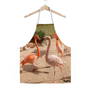 Classic Sublimation Adult Apron - Flamingo Friends Collection
