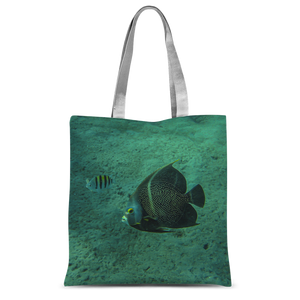 Classic Sublimation Tote Bag - Reef Fish Collection - Angel