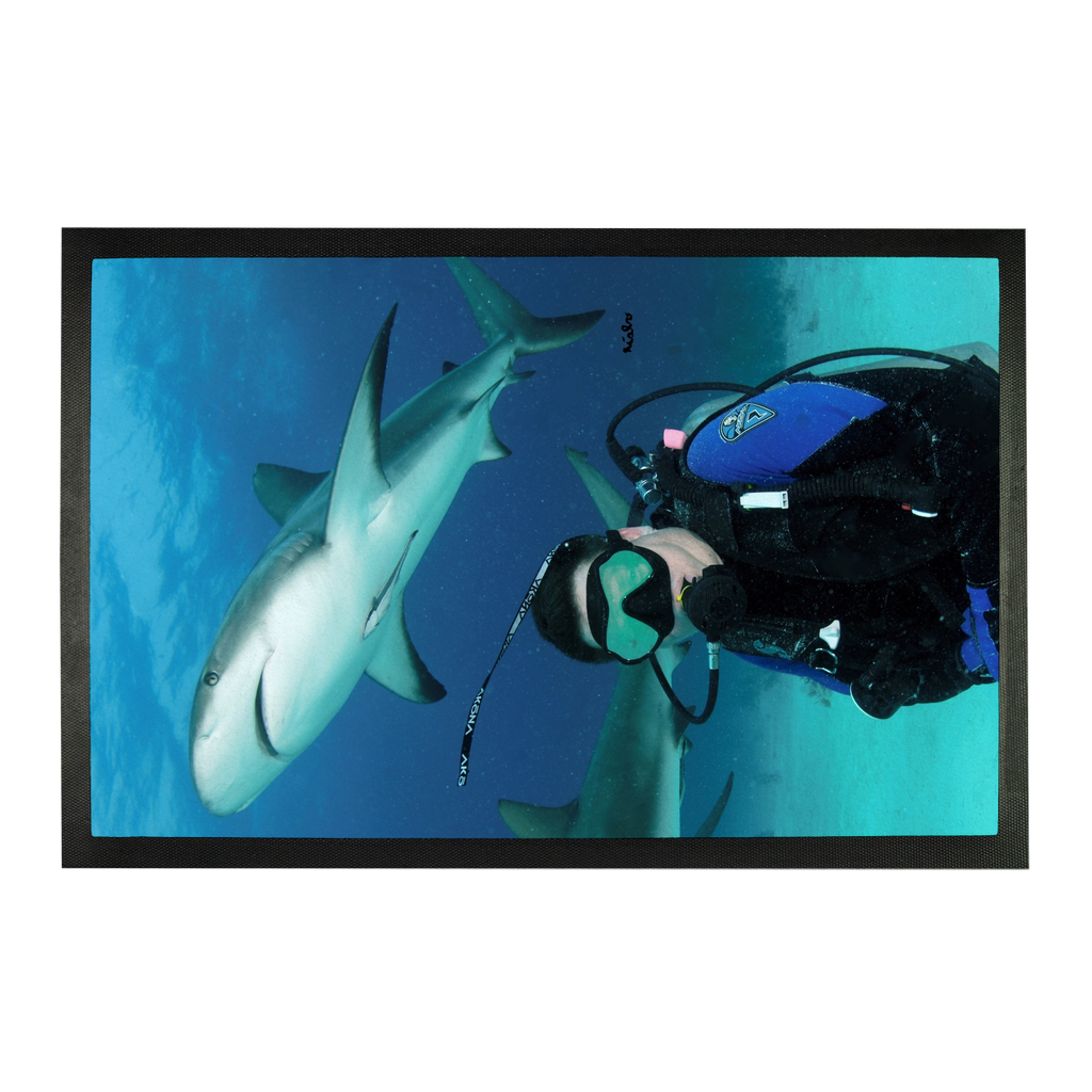 Sublimation Doormat - Swimming With Sharks Collection