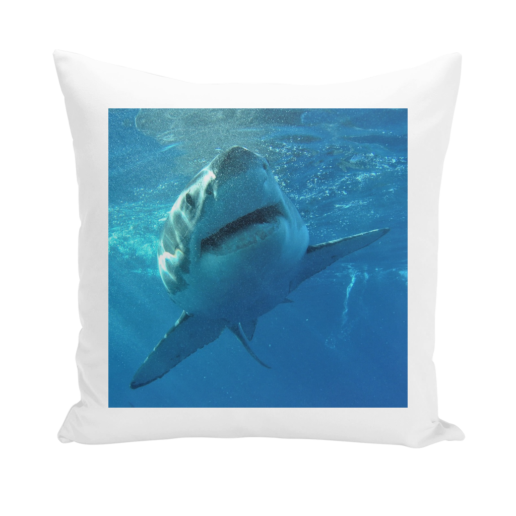 Throw Pillow/Cushion Cover - Surrounded by Sharks Collection