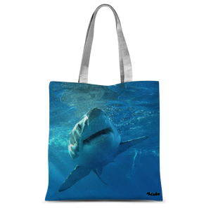 Classic Sublimation Tote Bag - Surrounded by Sharks Collection