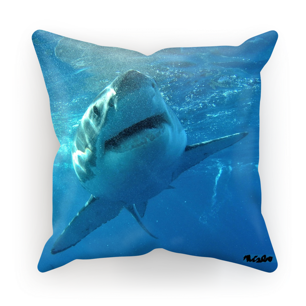 Sublimation Cushion/Throw Pillow Cover - Surrounded by Sharks Collection