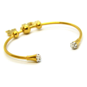 Puppy Bangle Bracelet Gold Plated Stainless Steel