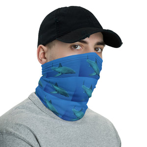 Neck Gaiter Face Mask Headband Bandana - Great White Shark