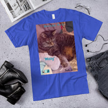 "Load image into Gallery viewer, Unisex Fine Jersey Short Sleeve T-Shirt - Rescue Pets Collection - ""Missy"""