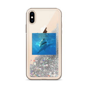 iPhone Case - Liquid Star Glitter-Filled - Shark
