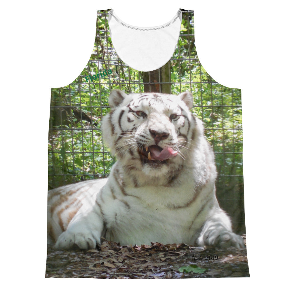 Unisex Tank Top (2-sided) - Wally the White Tiger Collection