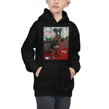 "Load image into Gallery viewer, ""Christmas Dog"" Kids Hoodie Sweatshirt (""Lucy"")"