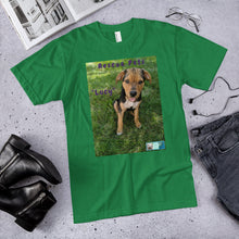 "Load image into Gallery viewer, Unisex Fine Jersey Short Sleeve T-Shirt - Rescue Pets Collection - ""Lucy"" III"
