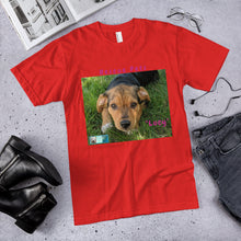 "Load image into Gallery viewer, Unisex Fine Jersey Short Sleeve T-Shirt - Rescue Pets Collection - ""Lucy"" II"