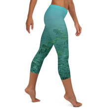 Load image into Gallery viewer, Women's Fitness/Fashion Capri Leggings - All-Over Print - Reef Fish Collection