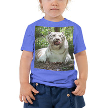 Load image into Gallery viewer, Toddler Short Sleeve Tee - Wally the White Tiger Collection