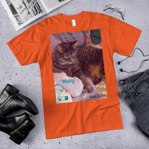 "Unisex Fine Jersey Short Sleeve T-Shirt - Rescue Pets Collection - ""Missy"""
