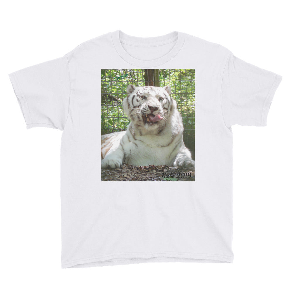 Youth/Kids' Short Sleeve T-Shirt - Wally the White Tiger Collection