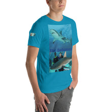 Load image into Gallery viewer, Short-Sleeve Unisex T-Shirt - Swimming with Sharks Shark Shirt Collection II (sizes S - 4XL!)