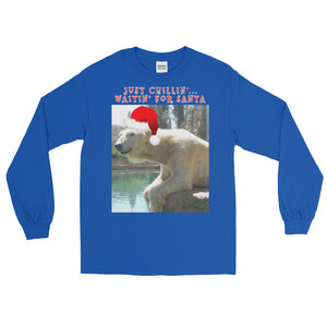 Christmas Polar Bear T-Shirt Long Sleeve Customizable Unisex