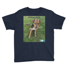 "Load image into Gallery viewer, Youth/Kids' Short Sleeve T-Shirt - Rescue Pets Collection - ""Lucy"" IV"