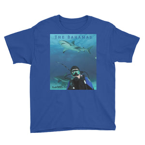 Youth/Kids' Short Sleeve T-Shirt - Swimming With Sharks Collection