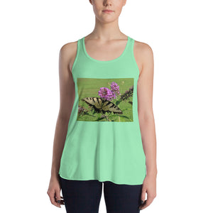 Women's Flowy Racerback Tank - Swallowtail Butterfly - The Nature Collection